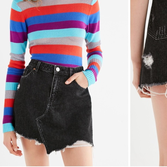 ee072d34b Urban Outfitters Skirts | Bdg Asymmetrical Denim Mini Skirt | Poshmark